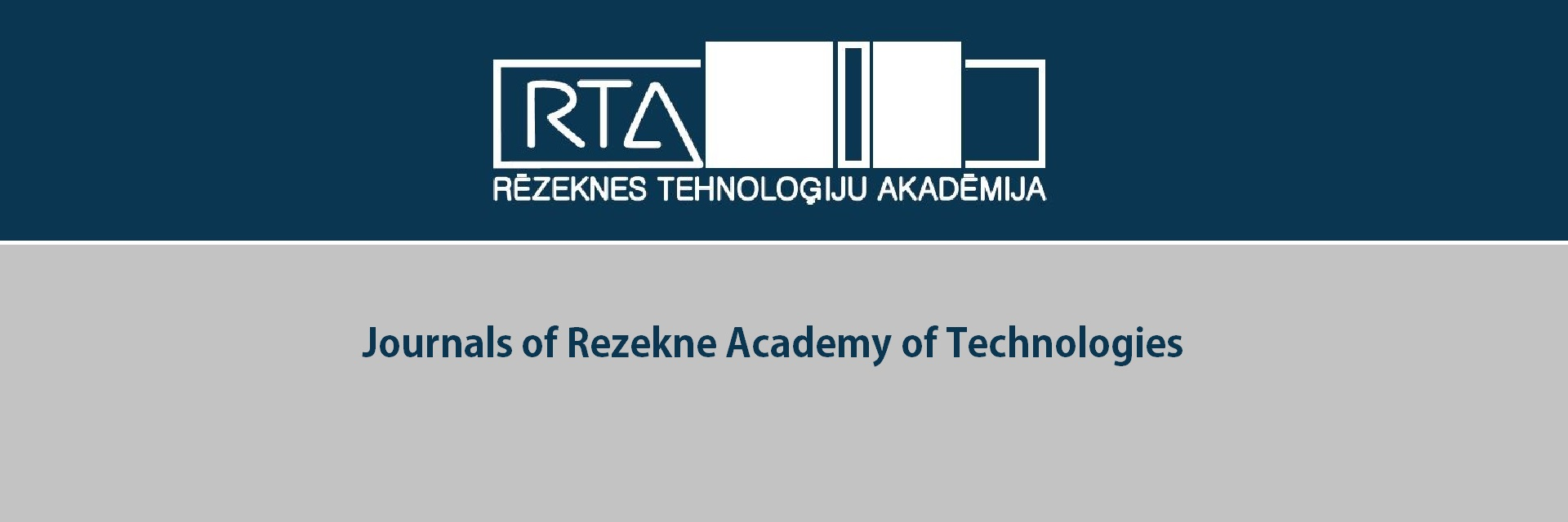 Journals of Rezekne Academy of Technologies